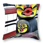 Half Child Throw Pillow