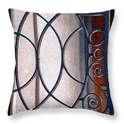 Half Circles On Iron Gate Throw Pillow