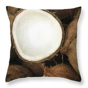 Half Coconut Throw Pillow by Brandon Tabiolo - Printscapes
