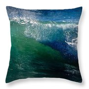 Half Cresting Wave Throw Pillow