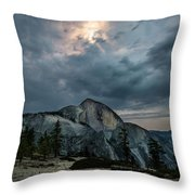 Half Dome At Night Throw Pillow