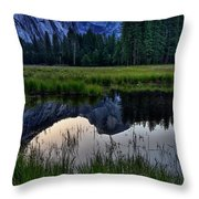 Half Dome At Sunrise Throw Pillow