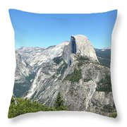 Half Dome From Inspiration Point Throw Pillow