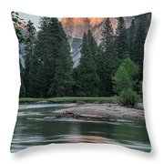 Half Dome In Evening Light Throw Pillow