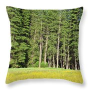 Half Dome Meadow Throw Pillow