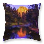 Half Dome Sunset Throw Pillow