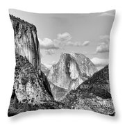 Half Dome Tunnel View  Throw Pillow