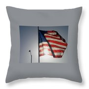 Half Mast Flag Honoring President Ronald Reagan Number 2 Casa Grande Arizona June 2004 Throw Pillow