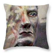 Half Mind/half Blind Throw Pillow