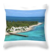 Half Moon Cay Throw Pillow