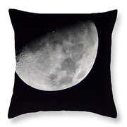 Half Moon Number Three Throw Pillow