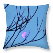 Half Moon Through The Trees Throw Pillow