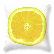 Half The Orange Throw Pillow