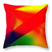 Halftone Colorful Abstract Throw Pillow