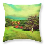 Halfway Down The Hill Throw Pillow