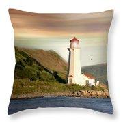 Halifax Harbor Lighthouse Throw Pillow