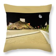 Hall Of Fame At Night Throw Pillow