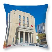 Hall Of Justice In Valparaiso-chile  Throw Pillow