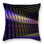 Hall Of Lights Throw Pillow