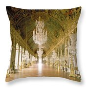 Hall Of Mirrors  The Galerie Des Glaces Throw Pillow