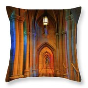 Hall Of The Cathedral Throw Pillow
