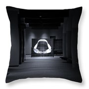 Hall Of The Megalodon Throw Pillow