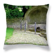 Hall Well - Tissington Throw Pillow