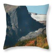 Hallett Peak Fall Colors Throw Pillow