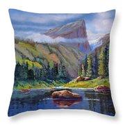 Hallett Peak Throw Pillow