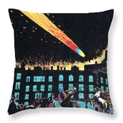 Halleys Comet, 1910 Throw Pillow