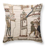 Halleys Comet Of 1066, Bayeux Tapestry Throw Pillow