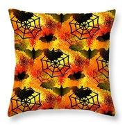 Halloween Abstract - Happy Halloween Throw Pillow