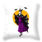 Halloween Batgirl Throw Pillow
