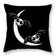 Halloween Bats And Crescent Moon Throw Pillow