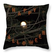 Halloween Card Throw Pillow