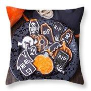 Halloween Cookies Throw Pillow
