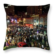 Halloween Draws Tens Of Thousands To Celebrate On 6th Street Throw Pillow