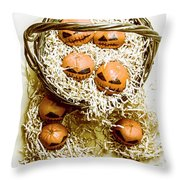 Halloween Food Decoration Throw Pillow