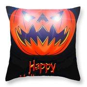 Halloween Greeting Card Throw Pillow