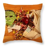 Halloween Haul Throw Pillow