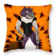 Halloween Hussy Throw Pillow