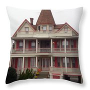 Halloween In Cape May Throw Pillow