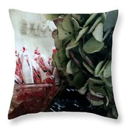Halloween Is Around The Corner Throw Pillow by Delight Worthyn