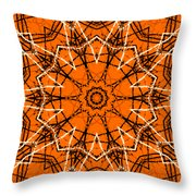 Halloween Kaleidoscope 12 Throw Pillow