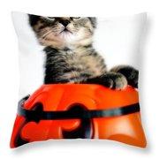 Halloween Kitten Throw Pillow