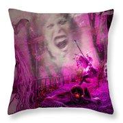 Halloween Landscape Throw Pillow