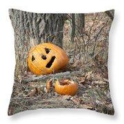 Halloween Leftovers Throw Pillow