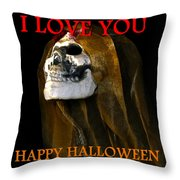 Halloween Love Throw Pillow