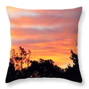 #halloween #morning #sky Is On #fire Throw Pillow