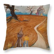 Halloween Night Throw Pillow by Dawn Vagts